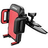 #6: Mpow CD Slot Car Mount Universal Cell Phone Holder with Three Side Grips for Smartphones