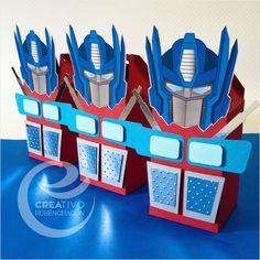 Transformers Birthday, Transformers 5, Transformer Party, Rescue Bots, Ideas Para Fiestas, Optimus Prime, Favor Boxes, 5th Birthday, Party Favors