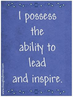 lead inspire affirmation