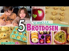 5 Brotdosen 🥯🍎🥒   Gesunde Kita Snacks   Schnelle Rezepte für Kindergarten & Schule   mamiblock - YouTube Healthy Fruits, Healthy Snacks, Food To Go, Food And Drink, Easy Diets, Drinking Tea, Bento, Breakfast, Simple Diet