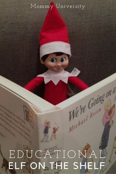 Elf on the Shelf you can introduce academic and developmentally fun activities with you elf on the shelf making an Educational Elf on the Shelf. We offer several quick and easy suggestions that stimulate conversation at Mommy University at www.MommyUniversityNJ.com
