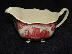 Johnson Brothers Old Britain Castles England Creamer Pink Red in Pottery & Glass, Pottery & China, China & Dinnerware | eBay