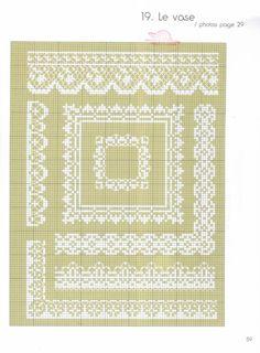 Blackwork Cross Stitch, Cross Stitch Borders, Cross Stitching, Hand Embroidery Art, Embroidery Patterns, Border Pattern, Monochrom, Couture, Needlepoint