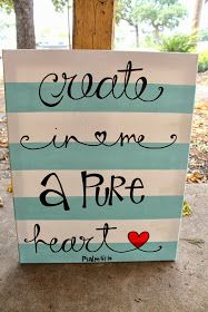 The Funky Monkey: Giveaway: Create in Me a Pure Heart Painting from Colors on Canvas