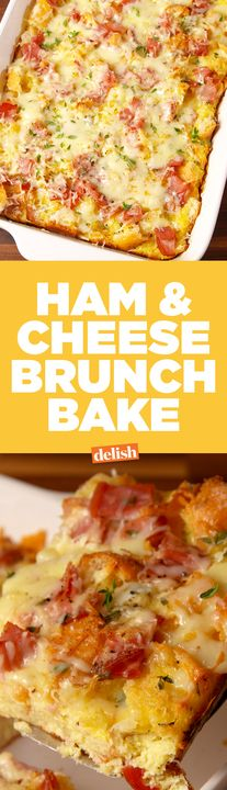 This Ham & Cheese Breakfast Bake will save you so much time on Christmas morning. Get the recipe from Delish.com.
