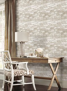 Your best new source for lifelike brick wallpaper, stone and slate replica wall coverings. Add style to your interior with our full line of brick wall paper Textured Brick Wallpaper, Rustic Wallpaper, Stone Wallpaper, Of Wallpaper, Azul Vintage, Accent Wall Colors, Wall Colours, Accent Walls, Discount Wallpaper