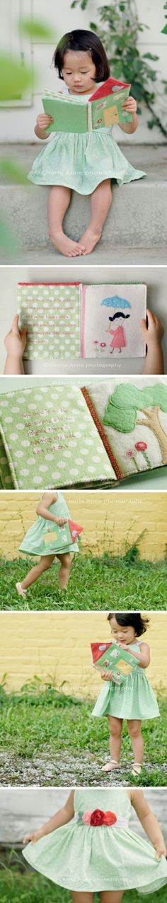 hand made soft book by courtney