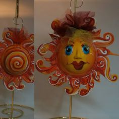 Another recent ornament I finished and didn't post. Maybe because it was raining so much here I didn't think the sun was smiling. She is out and smiling on us now! She can be yours if you need to spread a little sunshine to someone feeling blue. www.facebook.com/catlickstudios @catlickstudios