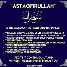 Istighfar is the way to happiness