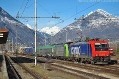 Switzerland - Freight train SBB Cargo Re 484 007 / Domodossola, Piedmont — Trainspo