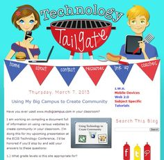 Have you seen the Technology Tailgate collaborative blog? Lots of great ideas for teaching with technology. Be sure to follow the blog by email if you're interested in this topic.