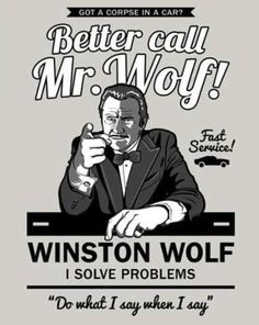 "Pulp Fiction - ""Better Call Mr. Wolf!"" #GangsterMovie #GangsterFlick"