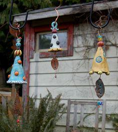 whimsey ceramic bells... @ivannairem .. https://tr.pinterest.com/ivannairem/ceramics-pottery-ll/