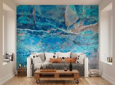 ohpopsi Abstract Blue Texture Wall Mural