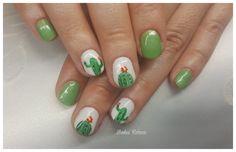 Green gelpolish with cactus