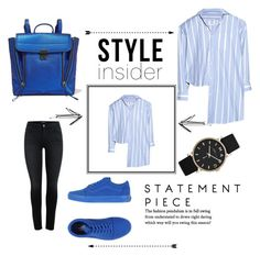 """""""Blue."""" by nola-faria ❤ liked on Polyvore featuring Vetements, Marc by Marc Jacobs, Vans and 3.1 Phillip Lim"""
