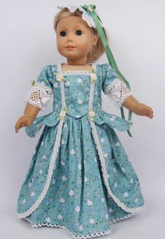 Handmade Doll Clothes for 18 inch American Girl Dolls Party Dress American Girl Outfits, My American Girl Doll, American Doll Clothes, Sewing Doll Clothes, Girl Doll Clothes, Doll Clothes Patterns, Girl Dolls, Doll Patterns, Rag Dolls