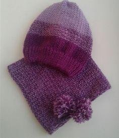 Комплект шапка и снуд для девочки на весну. Свяжу на заказ.