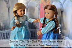 Giveaway: My Fancy Princess Elsa and Princess Anna gowns for dolls at DollDiaries.com