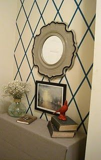 masking tape wall decor- I like the simplicity. Maybe for a spot in the kitchen?