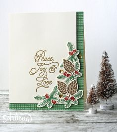 Christmas in July card featuring the Peace this Christmas stamp set -- by Amy O'Neill