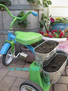 Don't throw away that out grown tricycle, give it a new job