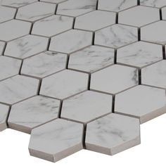 MSI Carrara Hexagon 12 in. x 12 in. x 10 mm Glazed Porcelain Mesh-Mounted Mosaic Tile (8 sq. ft. / case)-NCAR2X2HEX - The Home Depot