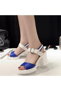 Women Sandals 2016 Summer New Open Toe Fish Head Fashion platform High Heels Sandals female shoes(Blue) | Price: ฿884.00 | Brand: Unbranded/Generic | From: Top Seller Shoes - รวมรองเท้าแฟชั่น รองเท้าผู้ชาย รองเท้าผู้หญิง ราคาพิเศษ | See info: http://www.topsellershoes.com/product/63979/women-sandals-2016-summer-new-open-toe-fish-head-fashion-platform-high-heels-sandals-female-shoesblue