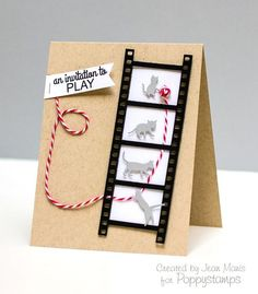 Kittens Playing Poppystamps; I love this!!  Have the kittens, have been wanting the film strip-- look at them together!