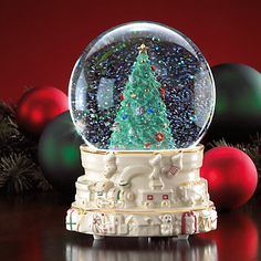 Christmas Express Musical Snowglobe by Lenox