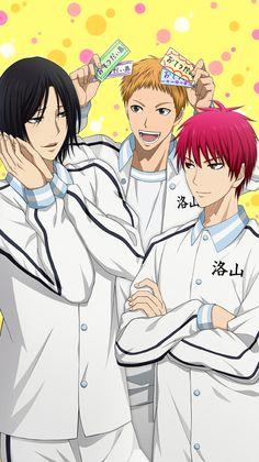 Kuroko no basket- Rakuzan Kuroko No Basket, Anime Basket, Fanarts Anime, Anime Films, Manga Art, Manga Anime, Anime Boys, Tokyo Ghoul, Desenhos Love