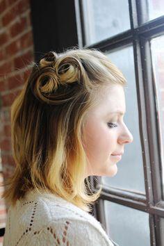 Short Hair Ideas- well, actually it's more medium hair ideas