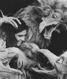 1986 - Jennifer Connelly as Sarah in Labyrinth (backstage photo).
