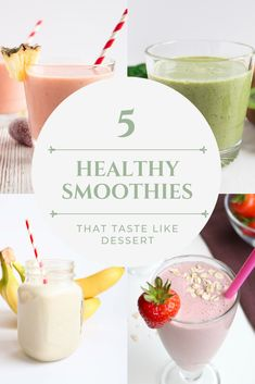 Top 5 healthy smoothie recipes that are not only good for you, but sinfully delicious as well.  #smoothie #healthy #recipe