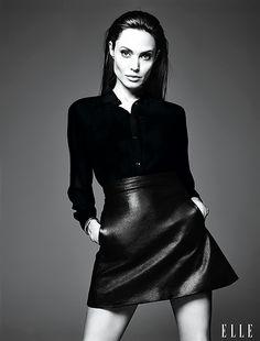Angelina Jolie in Saint Laurent - Elle June 2014