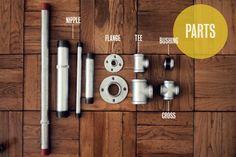 DIY pipe furniture