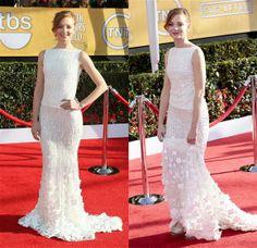 Jayma Mays in Georges Hobeika Atelier Sag Awards, Drew Barrymore, Celebs, Celebrities, Formal Gowns, Red Carpet, Wedding Dresses, Fashion, Dresses For Formal
