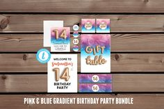 14th Birthday Party Kit | Birthday Party Package, 14th Birthday Pink, Digital Party Favors, 14th Birthday Invite, 14th Party Printables #DigitalPartyFavors #14thBirthdayInvite #EditablePartyPack #GoldFoilBalloon #14thBirthdayPink #InvitationBundle #BirthdayKitDigital #14thBirthdayKit #DiyInvitationKit #14thPartyPrintable