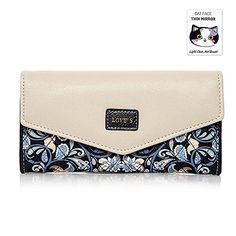 人気 BIG SALE  40% OFF  Woolala Women Elegant Envelope Wallet Floral Trifold Clutch Long Purse for Party Shopping Gift Black