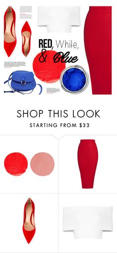 """""""Red, White & Blue"""" by monmondefou ❤ liked on Polyvore featuring Wander Beauty, Posh Girl, Gianvito Rossi, Rosetta Getty, Louis Vuitton, redwhiteandblue and july4th"""