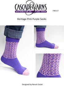 Pink Purple Sock in Cascade Heritage - FW117
