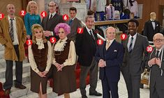30 years on, Mrs Slocombe and Mr Humphries are ready to serve again British Sitcoms, British Comedy, Are You Being Served, Vintage Tv, Films, Movies, 30 Years, Short Film, Screens
