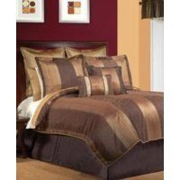 Canyon Crest Briarcliff 12 Pcs Bed In A Bag By 210 99 Warm And Earthy Tones Of Tan Gold Brown With Contemporary Minimal Jacquard