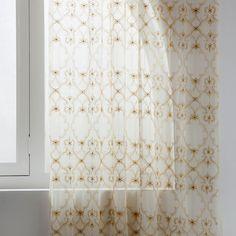 Tule Gordijn Met Goudkleurig Borduursel Tulle CurtainsBedroom CurtainsZara