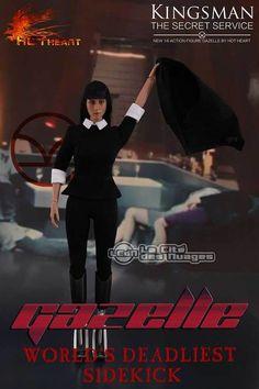 Kingsman: The Secret Service Gazelle ( Sofia Boutella ) 1/6 Figure 12 30cm HOT HEARTS FD001 Hot