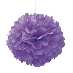 Party Souq - Purple Puff Ball Tissue Decoration|1 pc, $ 8.37