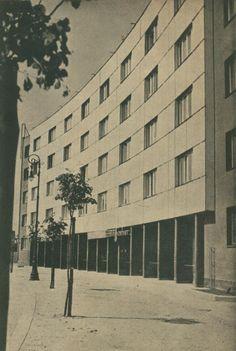 Józef Szanajca, Warsaw, 1932-33 Constructivism, Beautiful Buildings, Warsaw, Bauhaus, Old Photos, Poland, Functionalism, Rationalism, Art Deco