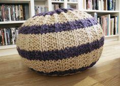 Ravelry: Puff Mama pattern by Anna & Heidi Pickles **KNIT* Knitting Patterns Free, Knit Patterns, Free Knitting, Baby Knitting, Free Pattern, Sewing Patterns, Knitted Pouffe Pattern, Crochet Home, Knit Crochet