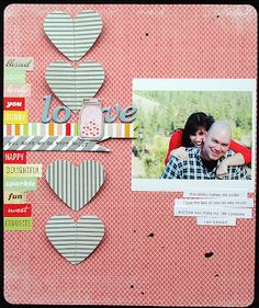 Layout by Elizabeth Carney using the Scrapbook Circle Best.Day.Ever. Kit