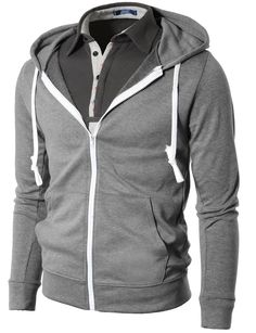 H2H Mens Fashion Lightweight Hoodie Zip-up Hoodie  A different outlook on life of fashion, And mostly styles are Korean sizes and smaller than US or EU size.  #picsandpalettes #hoodie #H2H #Amazon